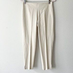 Brunello Cucinelli Ivory Cotton Blend Trousers